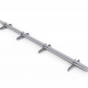 Снегозадержатель трубчатый BORGE (4 опоры) оцинкованный, 3м