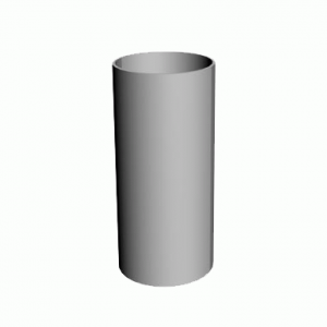 Труба водосточная D=80, L3000