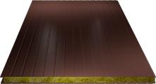 Сэндвич-панель стеновая (базальт) 80мм, Ral 3009