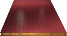 Сэндвич-панель стеновая (базальт) 80мм, Ral 3011
