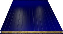 Сэндвич-панель стеновая (базальт) 80мм, Ral 5002