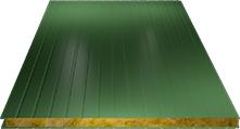 Сэндвич-панель стеновая (базальт) 80мм, Ral 6002
