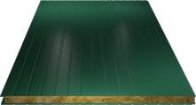 Сэндвич-панель стеновая (базальт) 80мм, Ral 6005