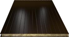 Сэндвич-панель стеновая (базальт) 80мм, Ral 8017
