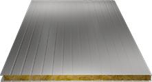 Сэндвич-панель стеновая (базальт) 80мм, Ral 9002