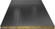 Сэндвич-панель стеновая (базальт) 80мм, Ral 9006