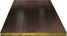 Сэндвич-панель стеновая (базальт) 80мм, Corten