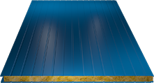 Сэндвич-панель стеновая (базальт) 100мм, Ral 5005