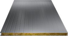 Сэндвич-панель стеновая (базальт) 100мм, Ral 7004