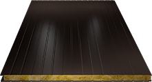 Сэндвич-панель стеновая (базальт) 100мм, Ral 8019