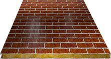 Сэндвич-панель стеновая (базальт) 100мм, Red brick
