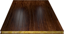 Сэндвич-панель стеновая (базальт) 100мм, Naive