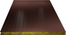 Сэндвич-панель стеновая (базальт) 120мм, Ral 3009