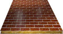 Сэндвич-панель стеновая (базальт) 120мм, Red brick