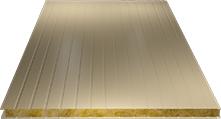 Сэндвич-панель стеновая (базальт) 130мм, Ral 1014