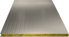 Сэндвич-панель стеновая (базальт) 130мм, Ral 1015