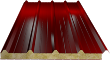 Сэндвич-панель кровельная (базальт) 80мм, Ral 3003
