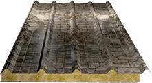 Сэндвич-панель кровельная (базальт) 80мм, Fine stone