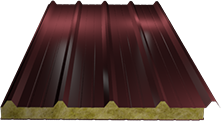 Сэндвич-панель кровельная (базальт) 100мм, Ral 3005