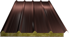 Сэндвич-панель кровельная (базальт) 100мм, Ral 3009