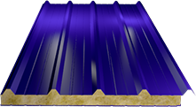 Сэндвич-панель кровельная (базальт) 100мм, Ral 5002