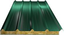 Сэндвич-панель кровельная (базальт) 100мм, Ral 6005
