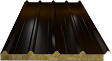 Сэндвич-панель кровельная (базальт) 100мм, Ral 8017