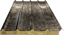 Сэндвич-панель кровельная (базальт) 100мм, Fine stone
