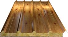Сэндвич-панель кровельная (базальт) 100мм, Orange log