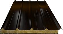 Сэндвич-панель кровельная (базальт) 130мм, Ral 8017