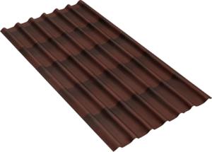 Черепица Ондулин (красная, коричневая)