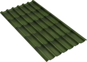 Черепица Ондулин (зеленая)