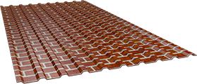 Профиль СОП10 0,5 мм, Red brick