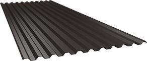 Профиль С21 0,5 мм, Ral 8019
