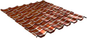 Металлочерепица Монтерей 0,5 мм, Red brick