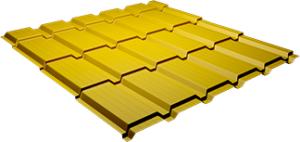 Металлочерепица Каскад 0,5 мм, Ral 1018