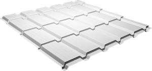 Металлочерепица Каскад 0,5 мм, Ral 9003