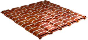 Металлочерепица Каскад 0,5 мм, Red brick