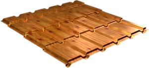 Металлочерепица Каскад 0,5 мм, Orange log