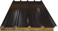 Сэндвич-панель кровельная (базальт) 60мм, Ral 8017