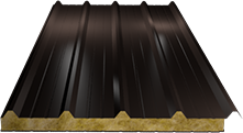 Сэндвич-панель кровельная (базальт) 60мм, Ral 8019