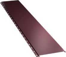 Гладкая широкая фасадная панель 0,5 мм, Ral 3005