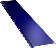 Гладкая широкая фасадная панель 0,5 мм, Ral 5002