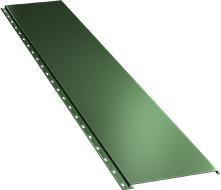Гладкая широкая фасадная панель 0,5 мм, Ral 6002