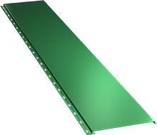 Гладкая широкая фасадная панель 0,5 мм, Ral 6029