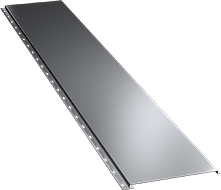 Гладкая широкая фасадная панель 0,5 мм, Ral 7004