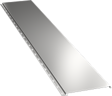 Гладкая широкая фасадная панель 0,5 мм, Ral 9002