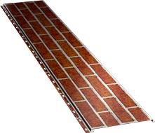Гладкая широкая фасадная панель 0,5 мм, Red brick