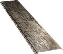 Гладкая широкая фасадная панель 0,5 мм, Fine stone