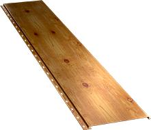 Гладкая широкая фасадная панель 0,5 мм, Orange log